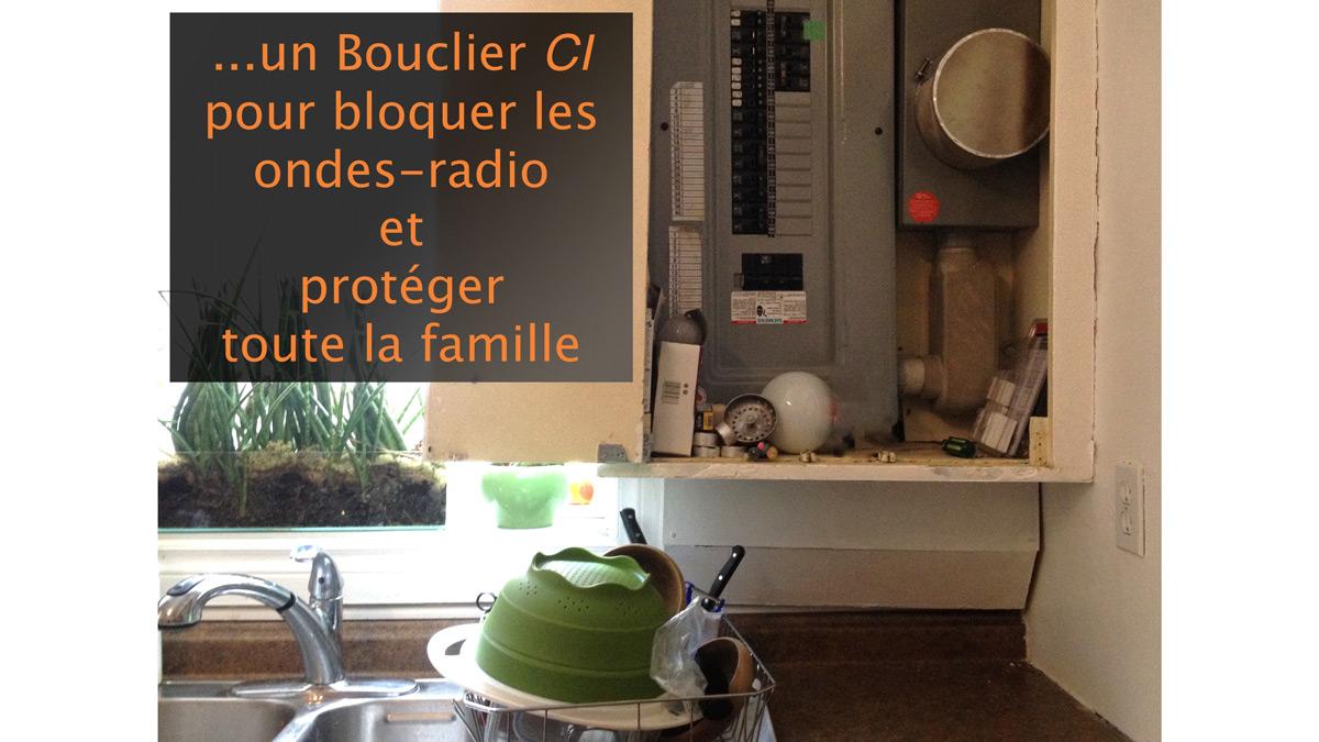 bouclier pour bloquer ondes radio de votre compteur intelligent. Black Bedroom Furniture Sets. Home Design Ideas